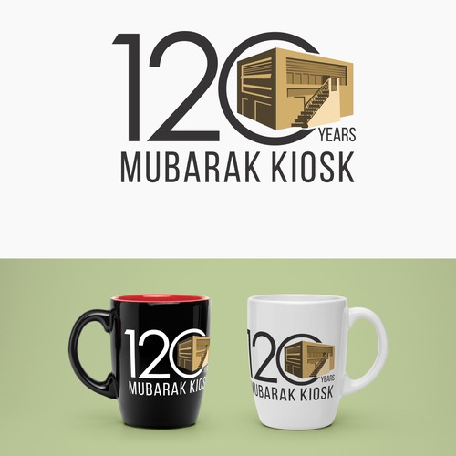120 year anniversary Mubarak Kiosk logo