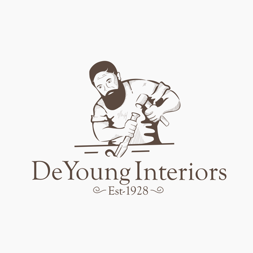 Hand Drawn logo for Interior Company