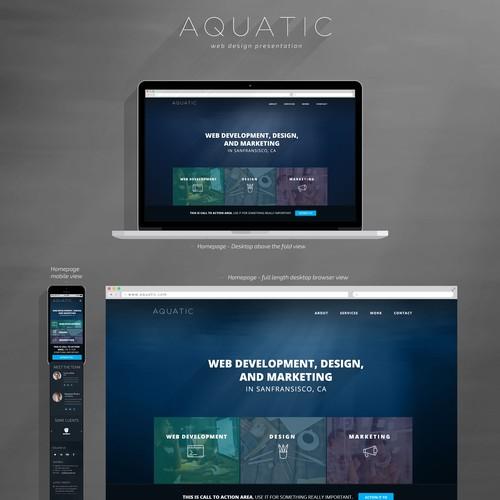 Create a website for Aquatic, a brand new development studio!