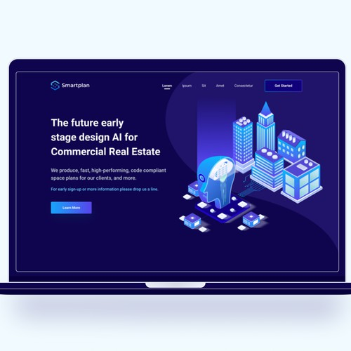 Artificial Intelligence SAAS for Real Estates Companies Dark Mode