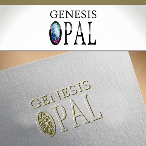 Created a modern logo for a maker of synthetic opal gemstones