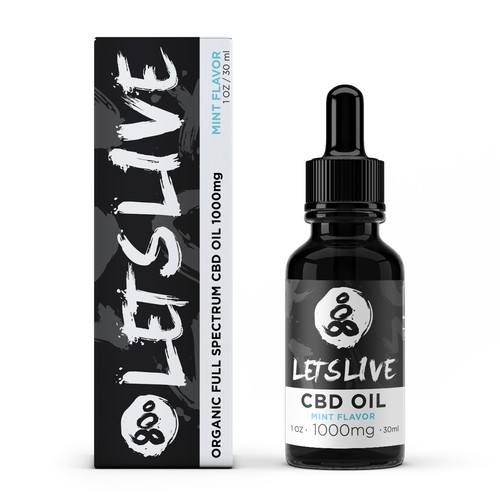 Branding design for LetsLive CBD Oil
