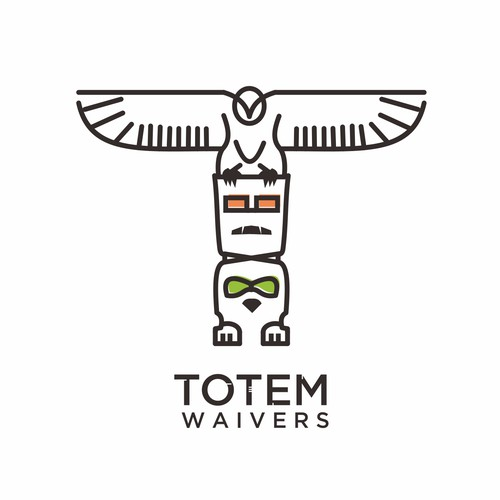 Line art for Totem logo