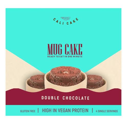 Playful and bold mug cake package design