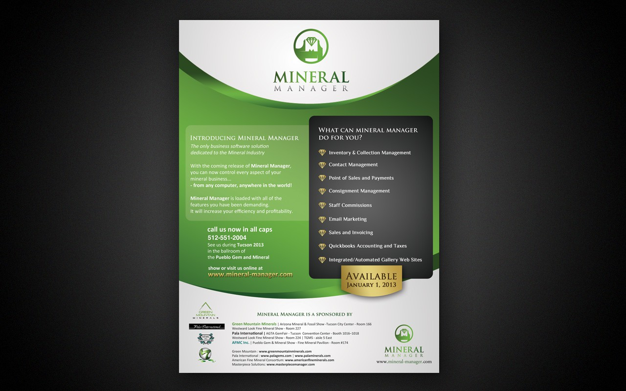 New business or advertising wanted for Mineral Manager