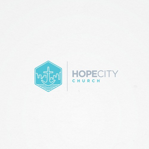 Create a clean brand identity for Hope City Church