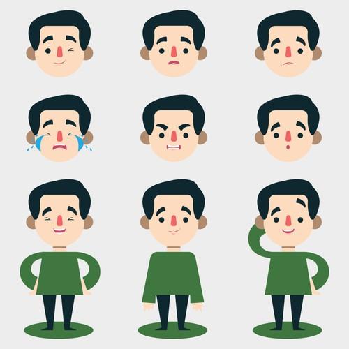 Character design ( flat )