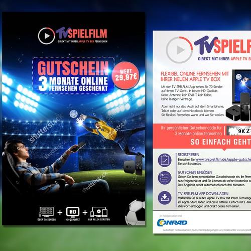Flyer for TVSPIELFILM