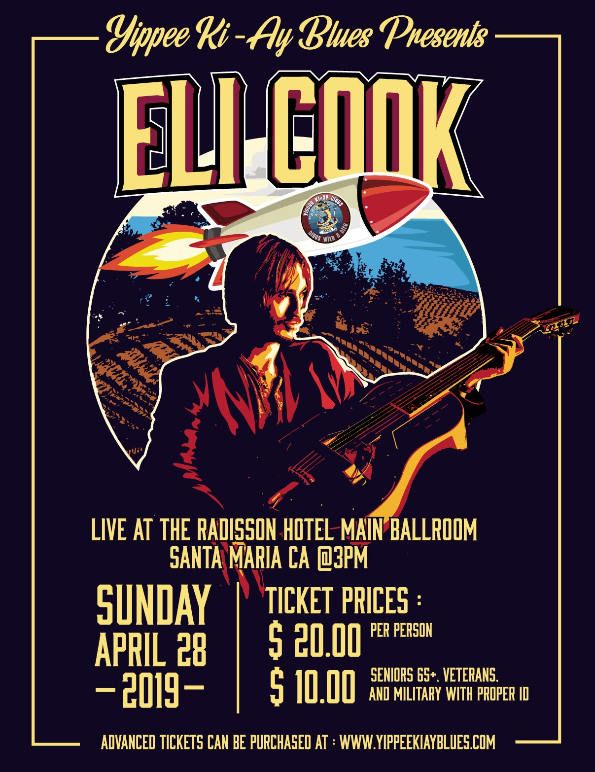 Yippee Ki-Ay Blues Eli Cook Event Poster