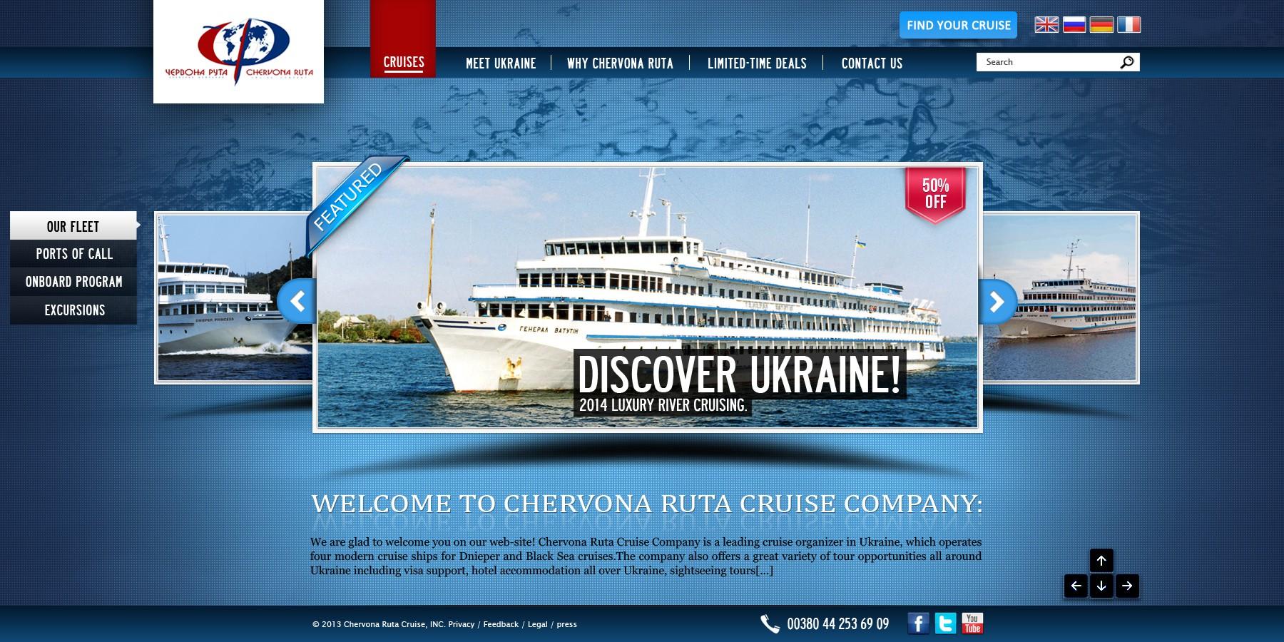Designing the best website in river-cruising