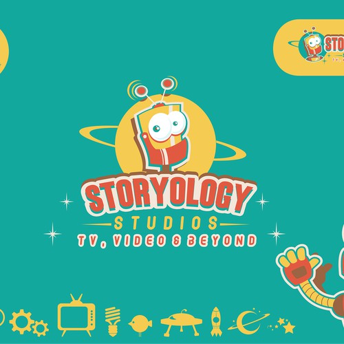 Create a Retro Sci Fi logo for Storyology Studios
