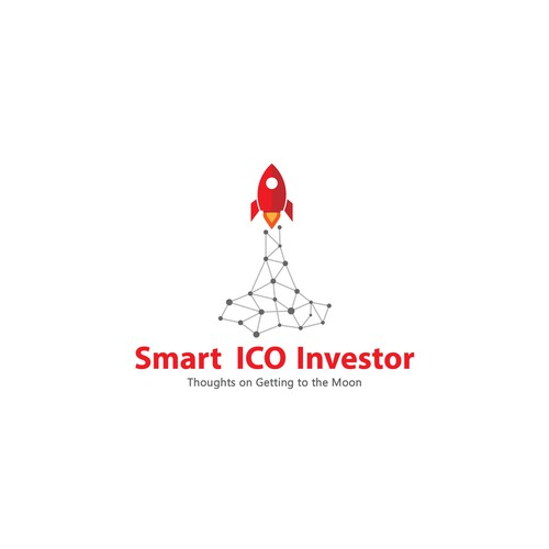 Modern abstract logo for ico investor