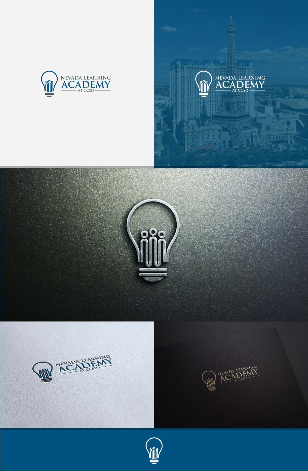 Logo for an online middle and high school academy (will provide fast, constructive feedback)