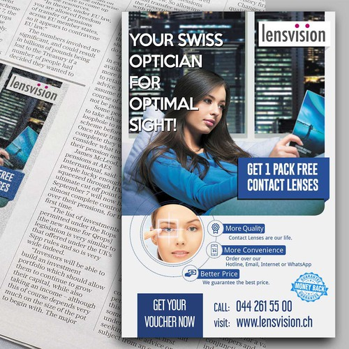 Newspaper Ad for Lensvision