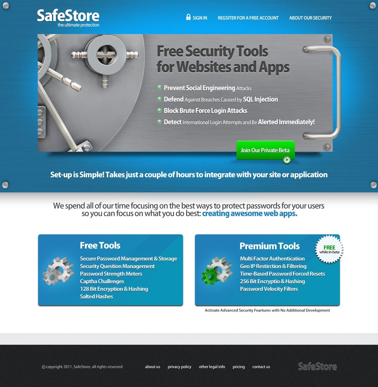website design for SafeStore