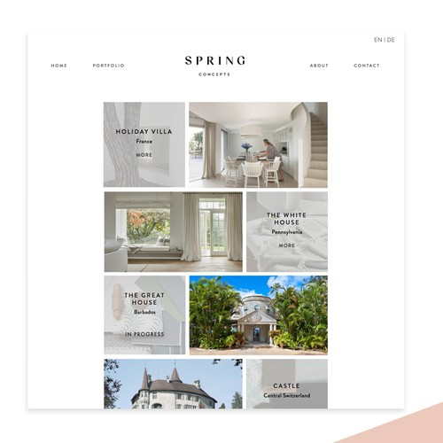 Squarespace website for Zurich based Interior Design Studio
