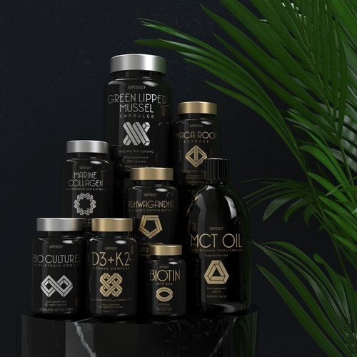 Supplement company full branding