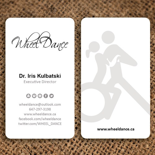 99nonprofits: Create a capturing business card for WHEEL DANCE