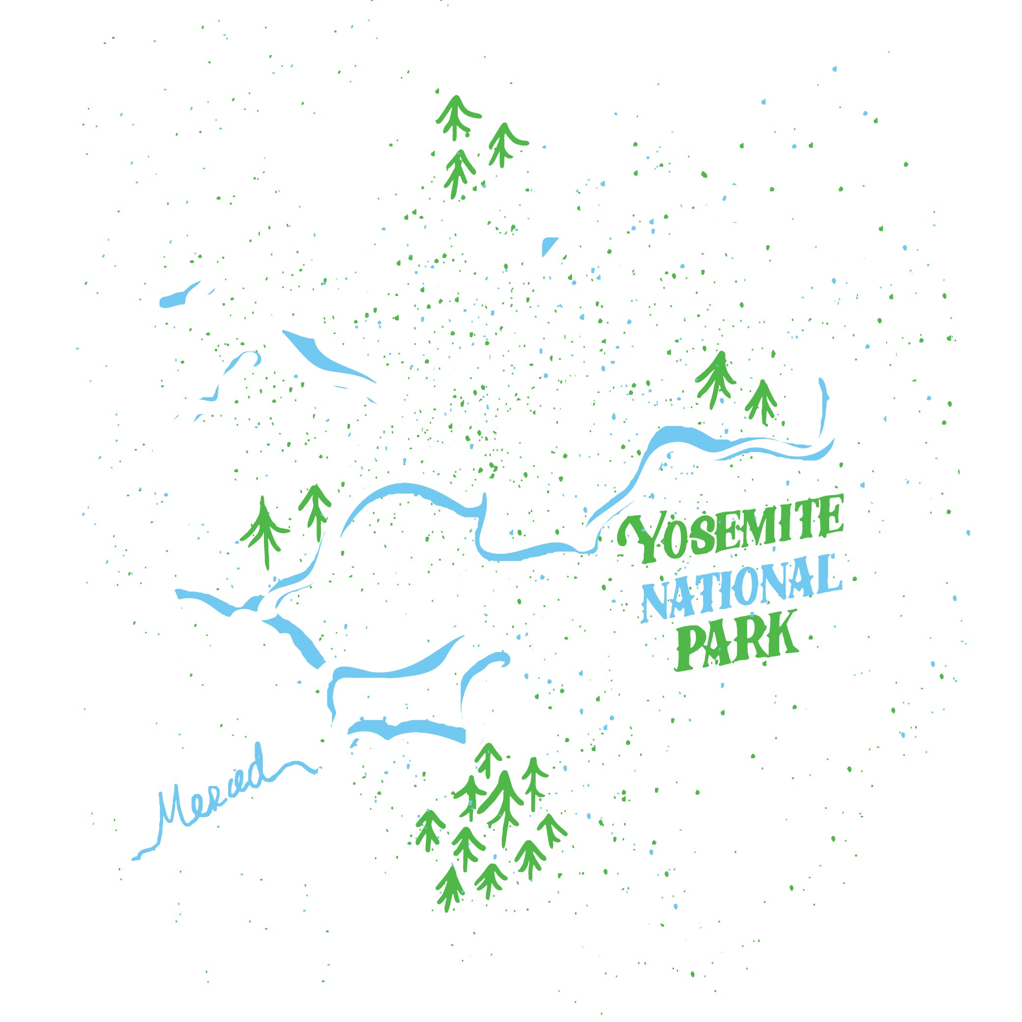 Yosemite National Park T-Shirt Design