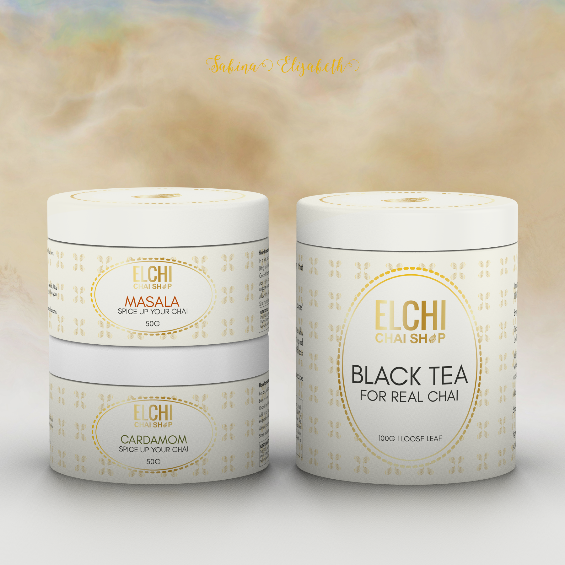 Packaging for a unique line of chai (made up of tea & spices)
