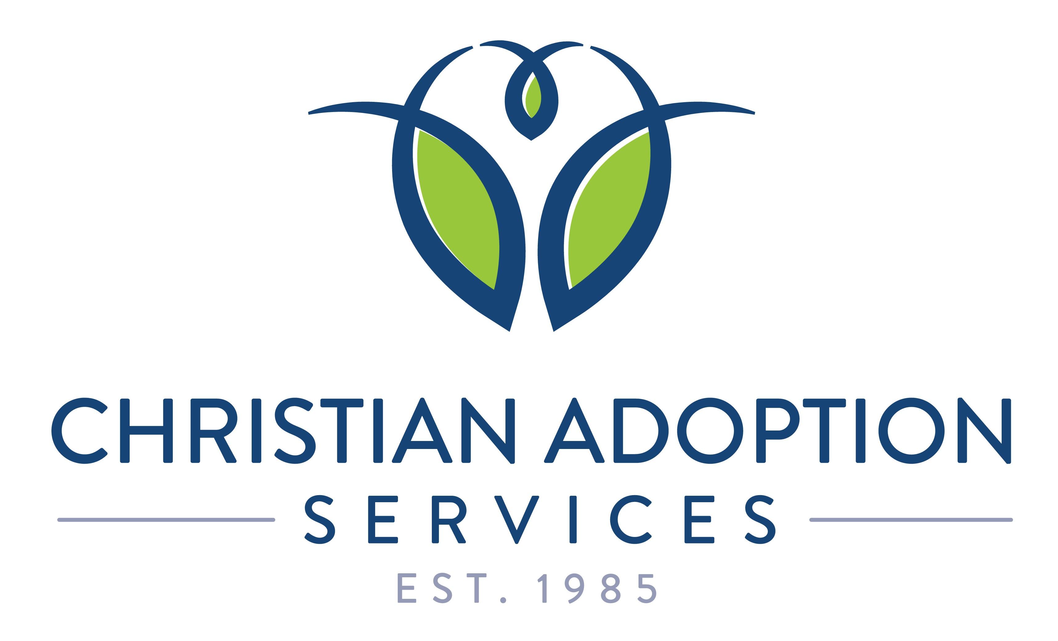 Faith-based Adoption Agency new logo with family home or family tree imagery