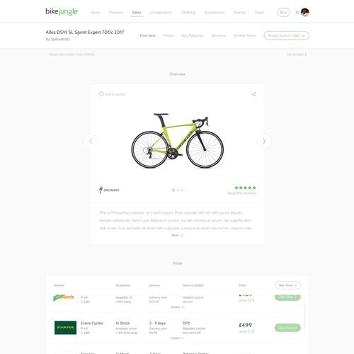 BikeJungle Website Design - Part 2