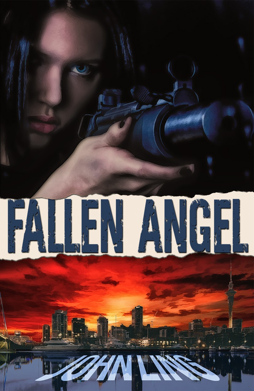 Cover redesign for FALLEN ANGEL and THE BLASPHEMER