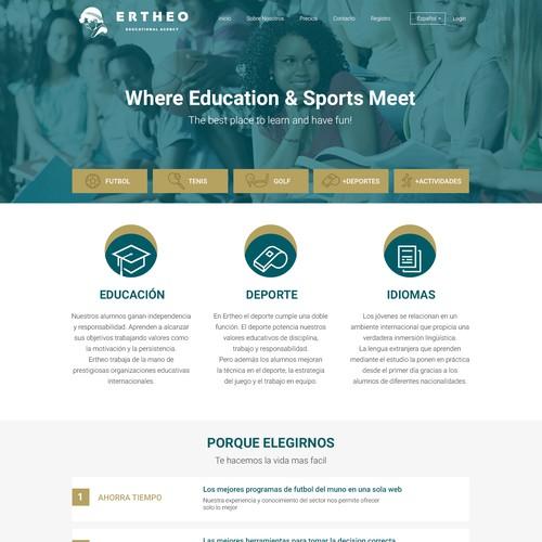 Ertheo Homepage Redesign