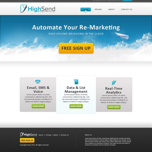 Homepage Design for HighSend.com