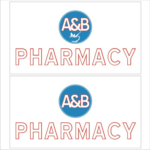 outline logo and branding a pharmacy