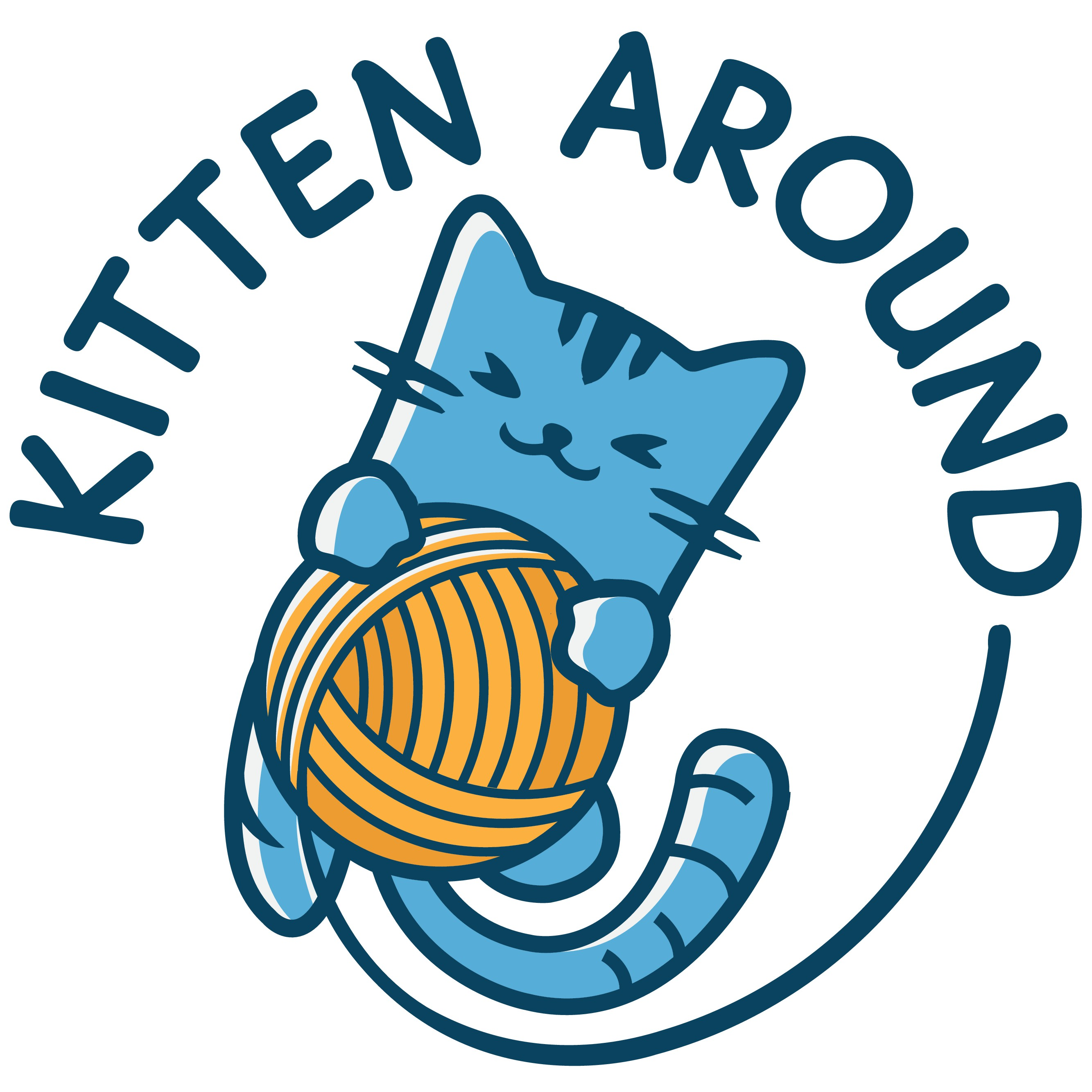 Create a friendly logo for a fun, new cat products company