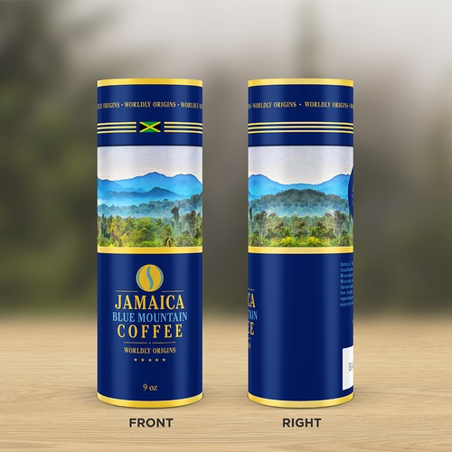 Luxurious packaging design for a coffee brand