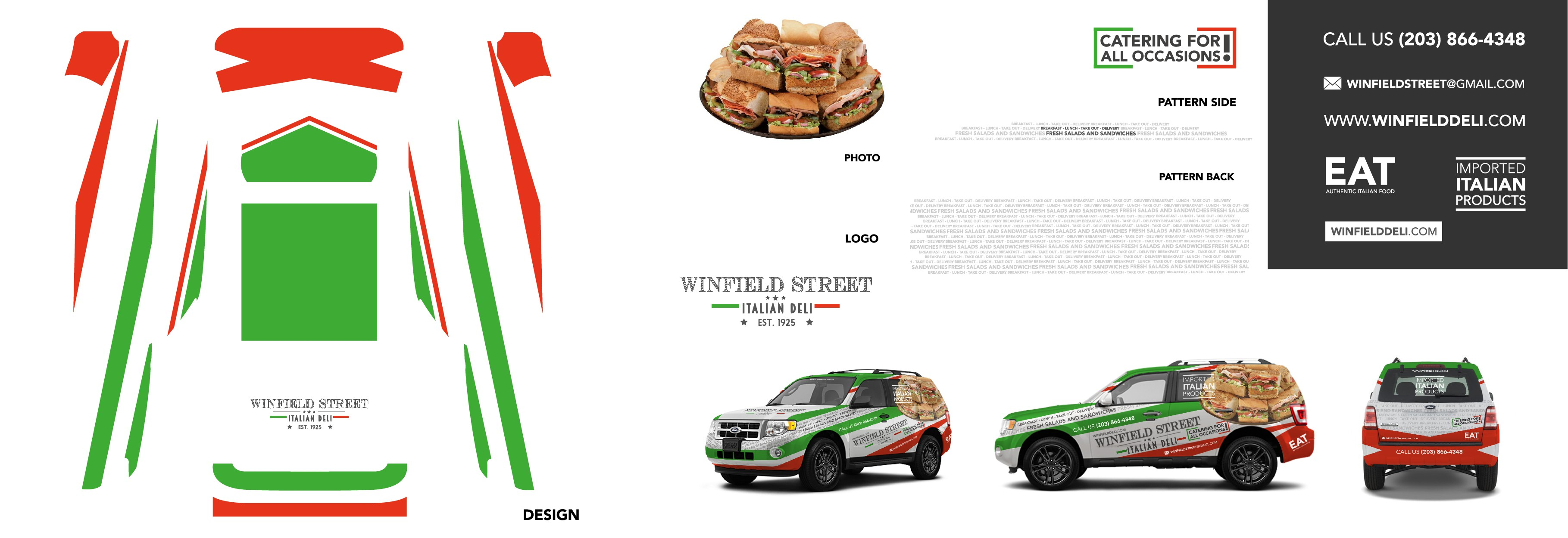 Fun Easy ITALIAN Car Wrapping for Italian Deli Catering and promotion!!! We need your expertise!