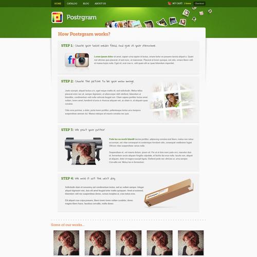 Postrgram: Web Design