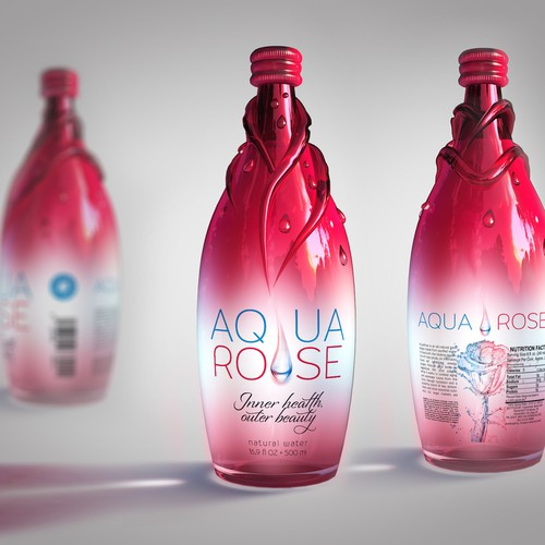 3D bottle design and label for up and coming plant based beverage (CADDesign)