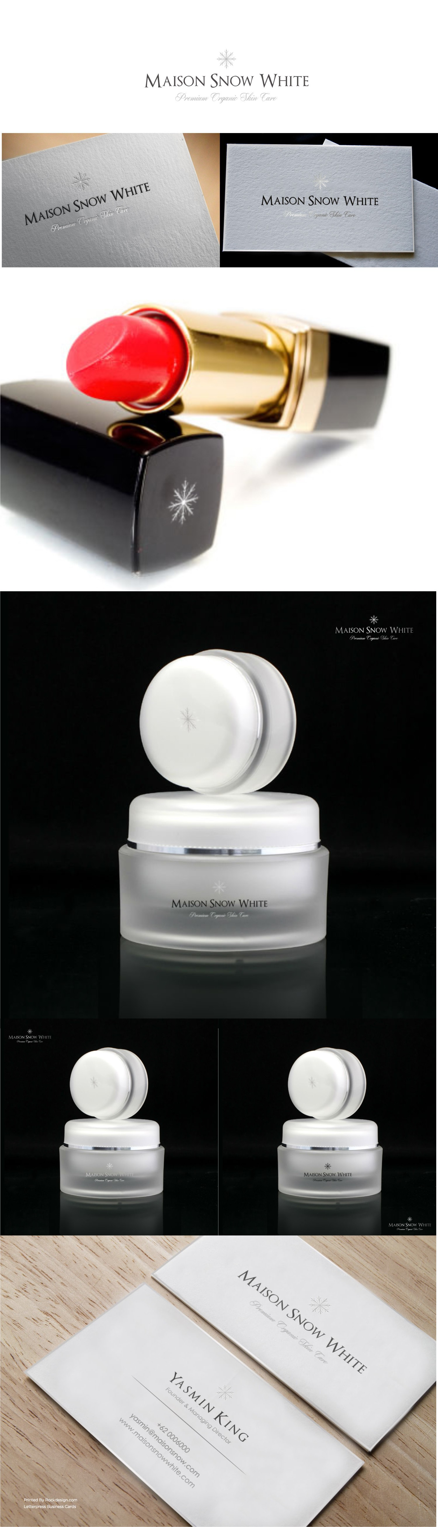 Organic luxury has a name: Maison Snow White. Create a logo for the premium cosmetic brand.