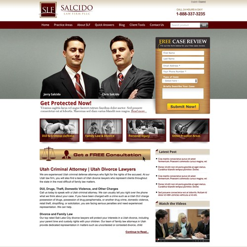 Help Salcido Law Firm PLLC with a new website design