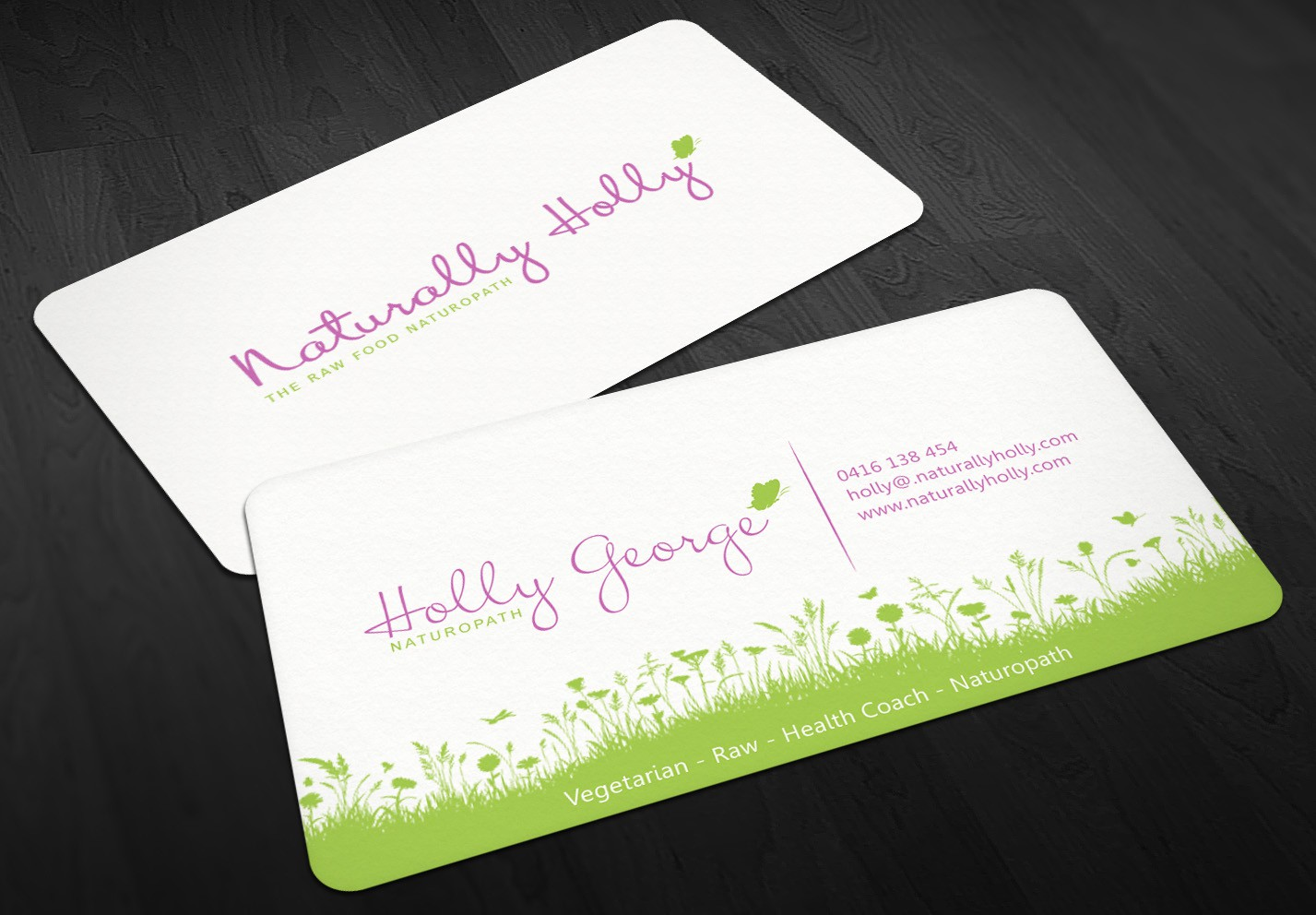 Help create a healthy life coach business card