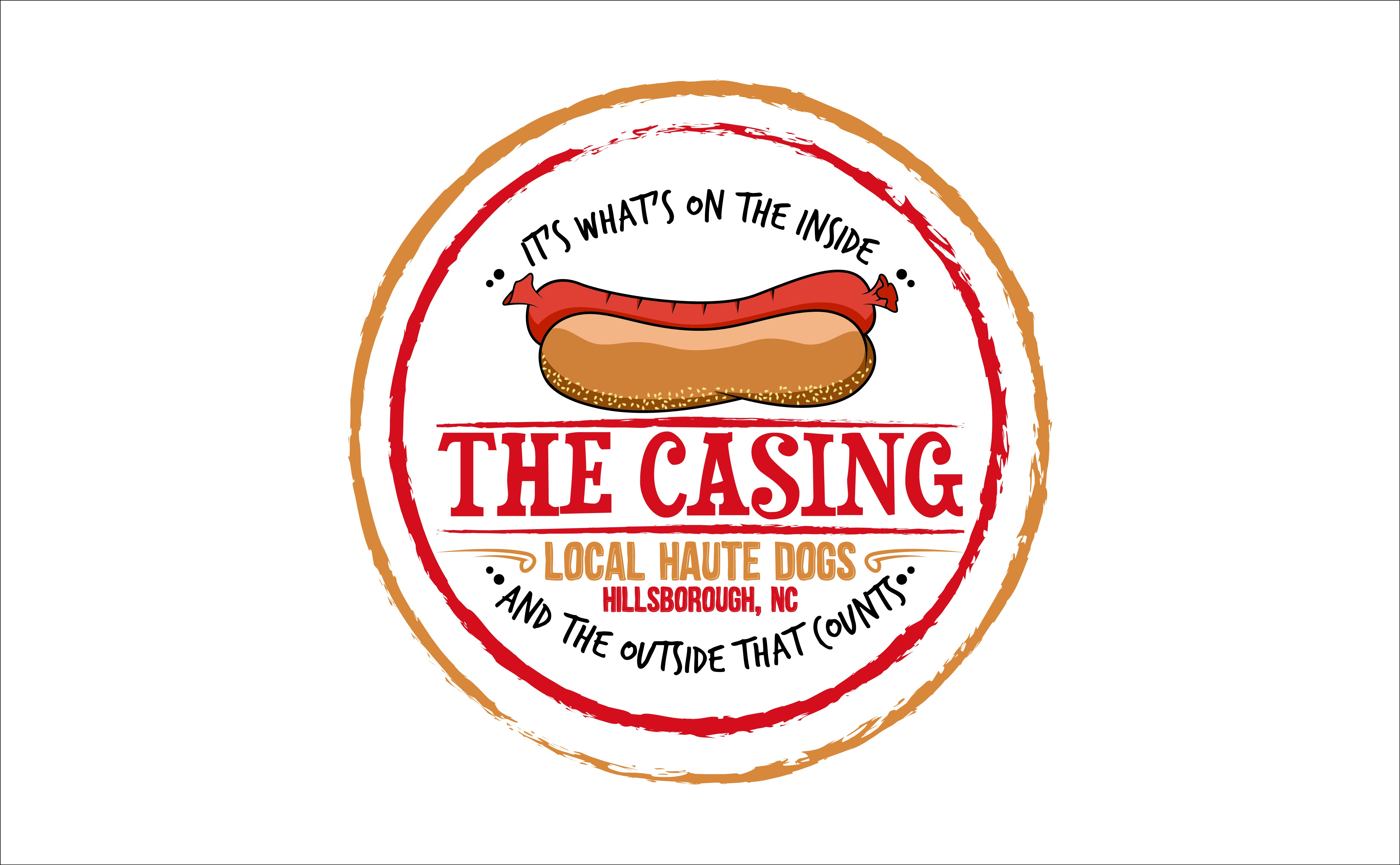 Design an original logo for a local, all natural food joint called The Casing.