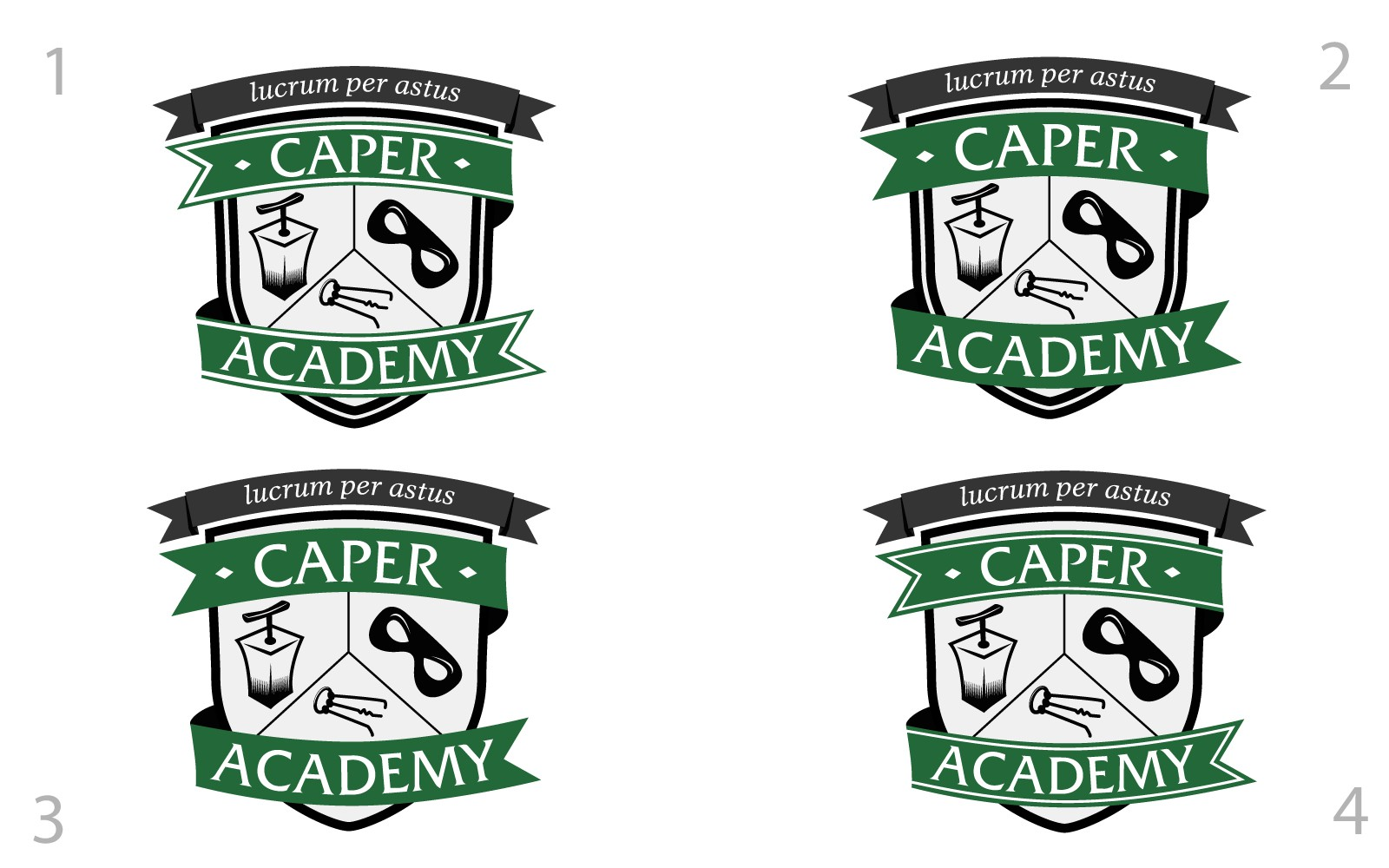 Logo for Caper Academy, an indie game studio