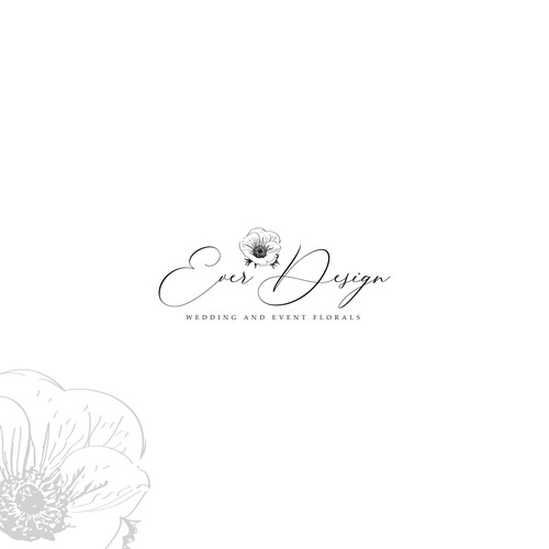Logo design for event florist.