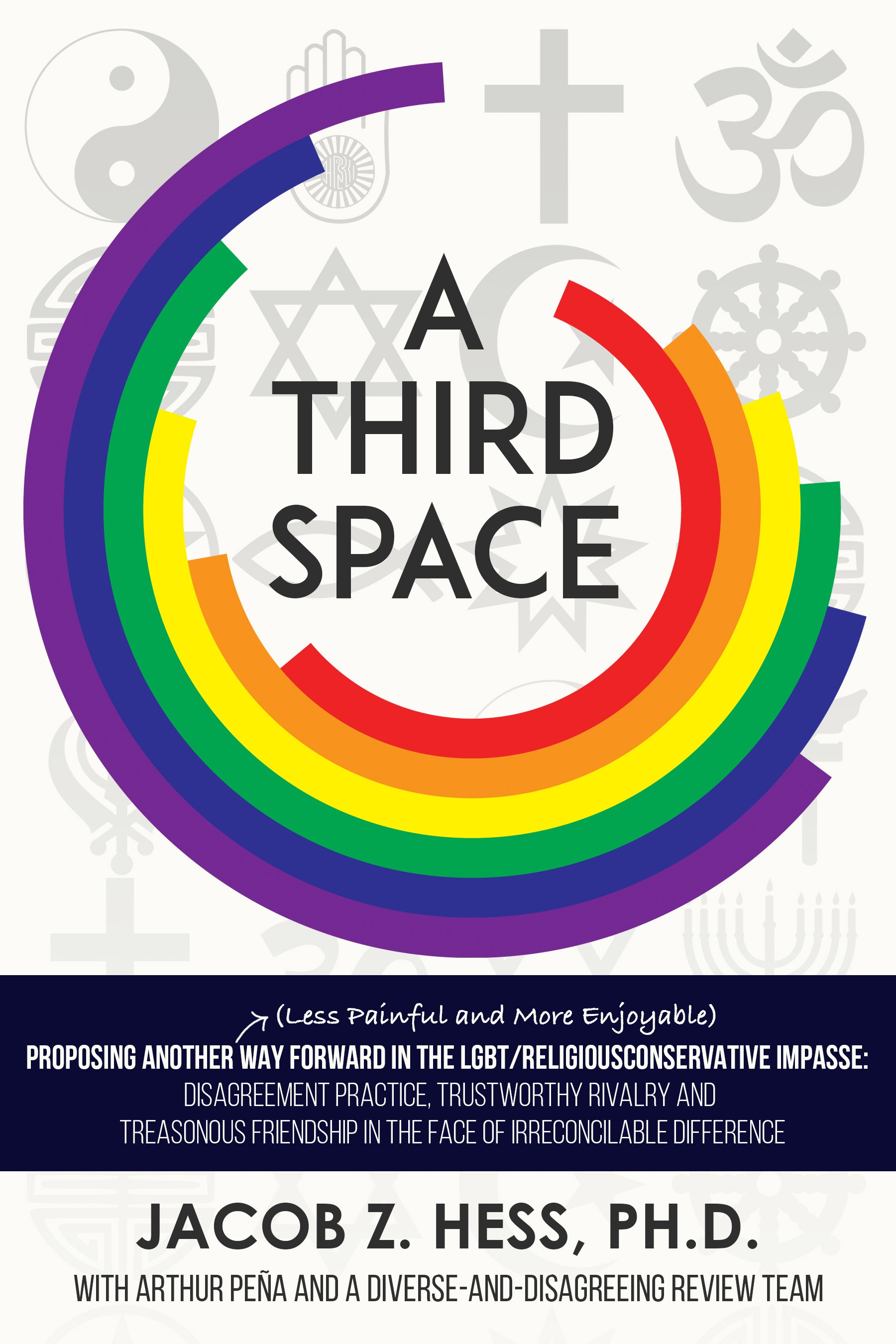 Create the cover for an exciting book proposing a New Way forward in the LGBT/Religious Conservative Impasse