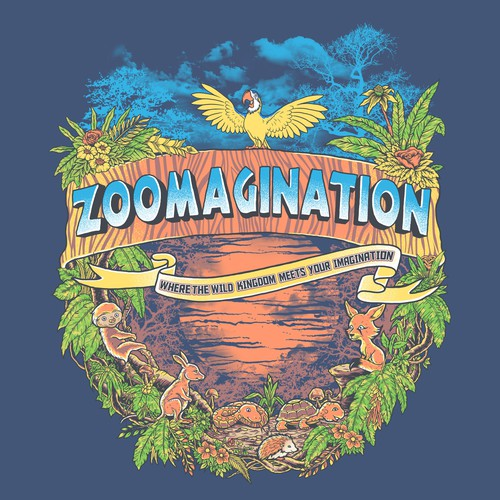 Create a fun and playful t-shirt design for animal interaction company