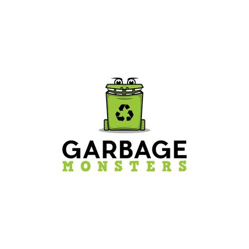logo for garbage monster