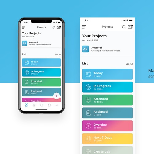 Redesign an existing mobile app for our business