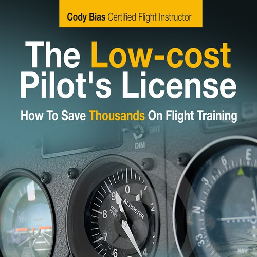 "Create an eBook cover for ""The Low-cost Pilot's License"""