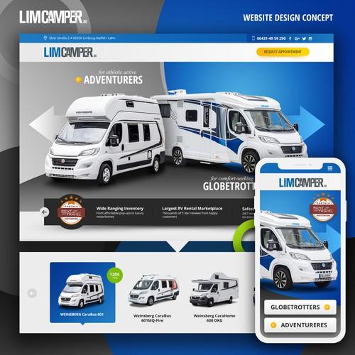 RV Car Rent Concept Design