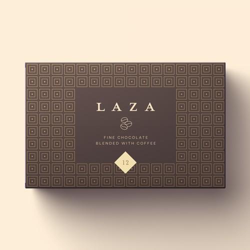 Minimalist design for luxury chocolates
