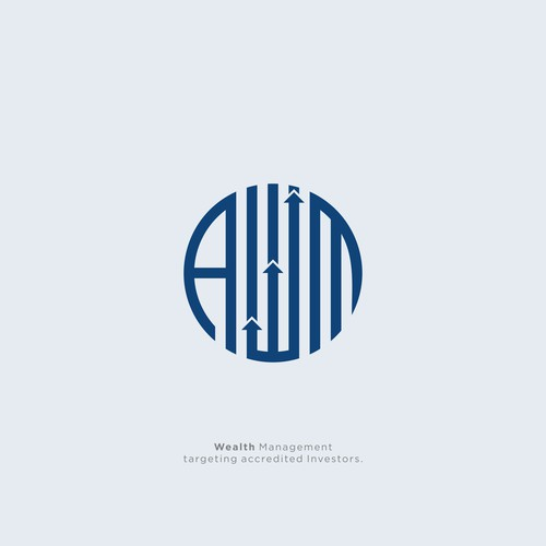 AWM custom abstract logo