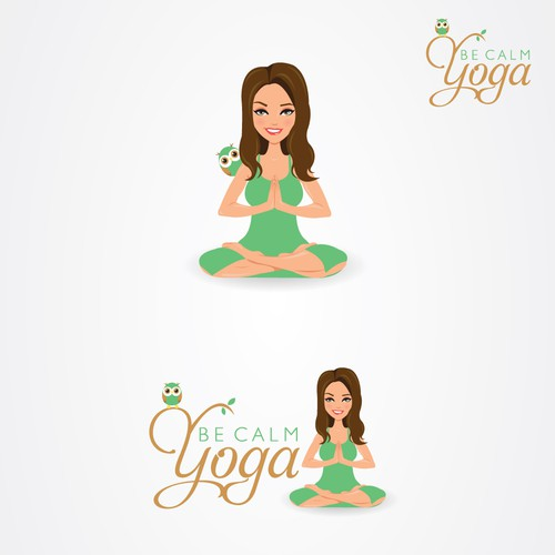 Create the next logo for Be Calm Yoga